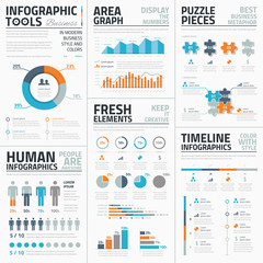 Large collection of infographic vector templates