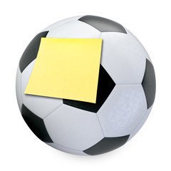 3D Soccer ball and sticky note