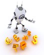 Robot juggling finances