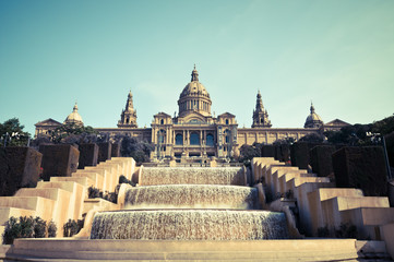 National museum of Catalan visual art, near  Barcelona, Spain