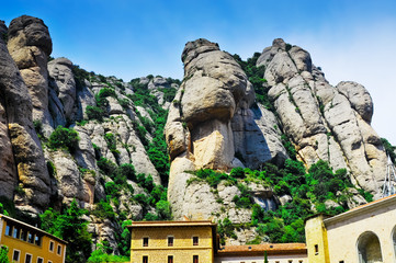 Montserrat monastery and mountains