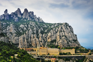 Monastery of Montserrat in Catalonia, Spain