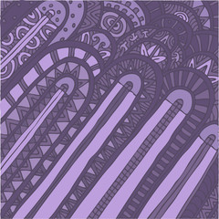 Art Deco style pattern texture, vector illustration, hand