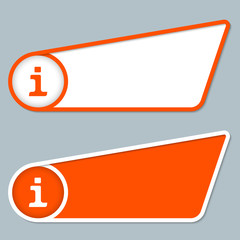 two orange boxes for any text with info symbol