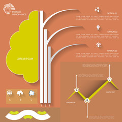 Abstract infographic template for business design