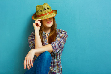 Fashion country girl portrit