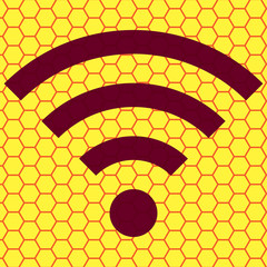 WI-FI. Flat modern web button