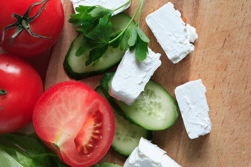 Feta Cheese And Vegetables