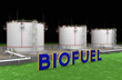 Large white tanks for biofuel
