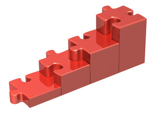 Stairs from four pieces of the puzzle