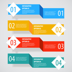 Simple abstract infographics options banner.
