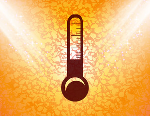 Thermometer. Flat modern web button