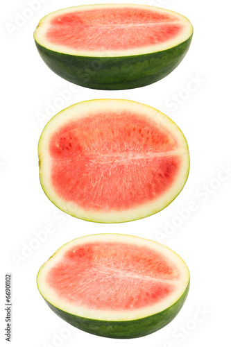 Set of watermelon on white background