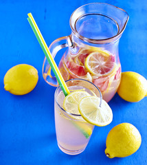 Refreshing Homemade Ice Cold Strawberry Lemonade