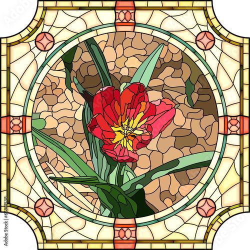 wektorowa-ilustracja-kwiatu-czerwieni-tulipan
