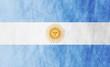 Argentinean grunge flag