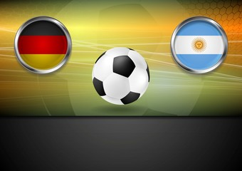 Final football. Germany and Argentine in Brazil 2014