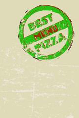 pizza menu template, free copy space, vector