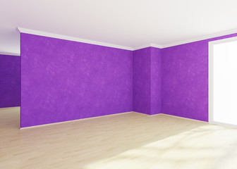Modern empty  room with Venetian stucco wall