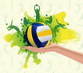 Volleyball sport design background