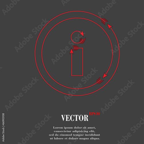 info. Flat modern web design