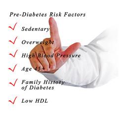 Pre-diabetes risk factors