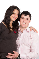 pregnant wife, a woman with her husband