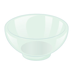 glass bowl isolated illustration
