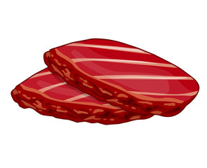 meat steak isolated illustration