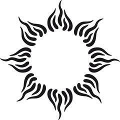 Sonne Tattoo Tribal Schön