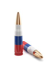 Russian flag bullets