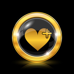 Heart with cross icon