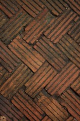 pattern of brick floor, texture background