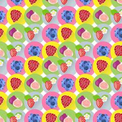 Fancy fruit vector background