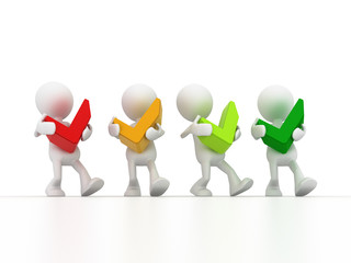 Team holding checklist