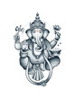 Indian elephant-head God Ganesha - 66906926