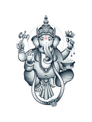 Indian elephant-head God Ganesha