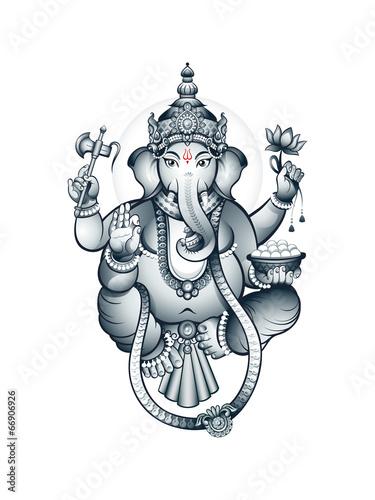 Fototapeta Indian elephant-head God Ganesha