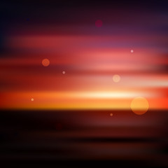Red sunset blurred background