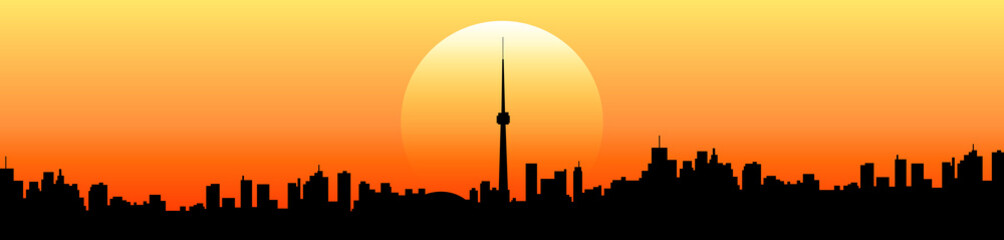 tramonto skyline