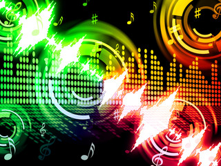 Sound Wave Background Shows Audio Analyzer Or Audio Frequency.