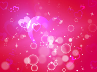 Hearts Background Means Shiny Hearts Wallpaper Or Romanticism.