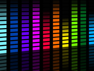 Colorful Soundwaves Background Means Frequencies Music And Party