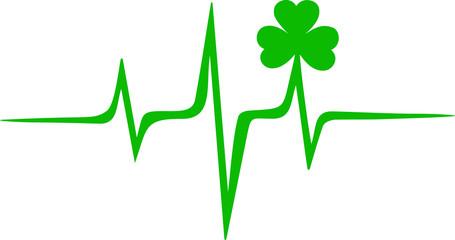 Irland Puls, Frequenz, Kleeblatt, St. Patricks Day