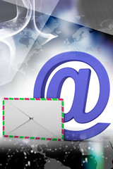 E-mail end envelope