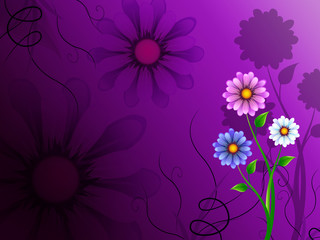 Flowers Background Shows Blooming Growing And Nature.