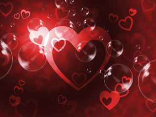 Hearts Background Means Passionate Wallpaper Or Loving Art.