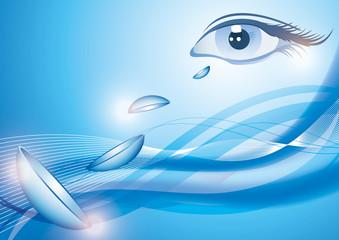 目とコンタクトレンズ