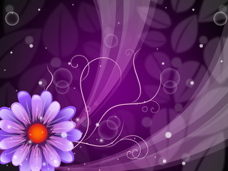 Flower Background Shows Petals Blooming And Beauty.