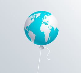 Vector modern  earth ballon